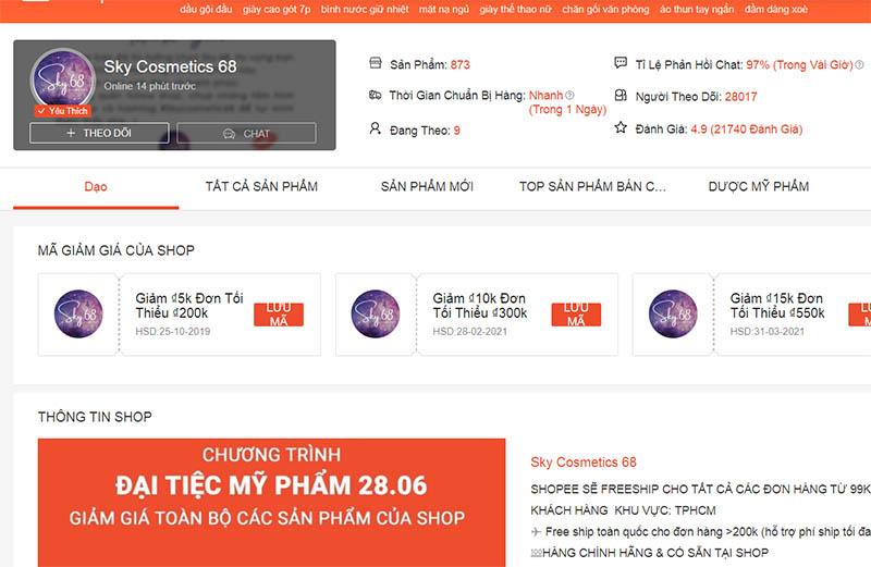 Sky Cosmetics 68 - mỹ phẩm Hàn Quốc xách tay