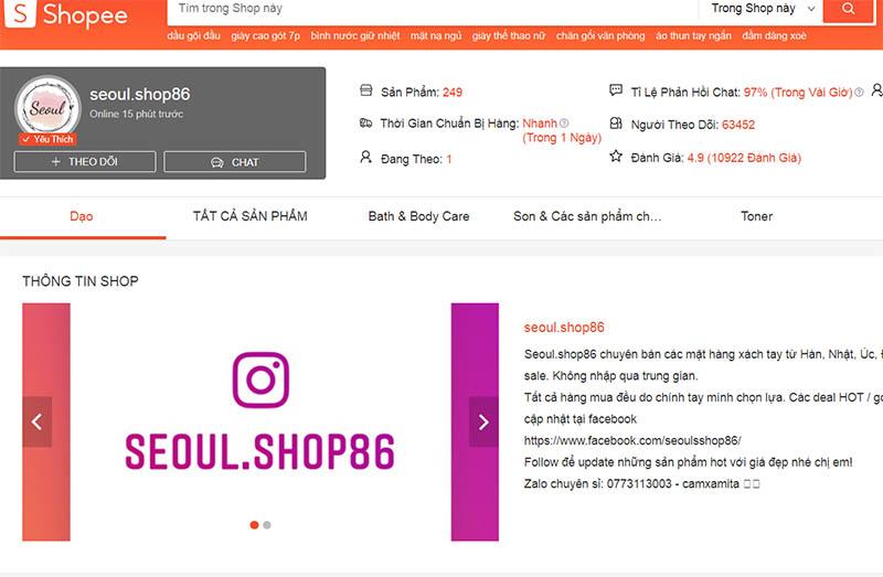 Seoul.Shop86 - mỹ phẩm Hàn Quốc xách tay