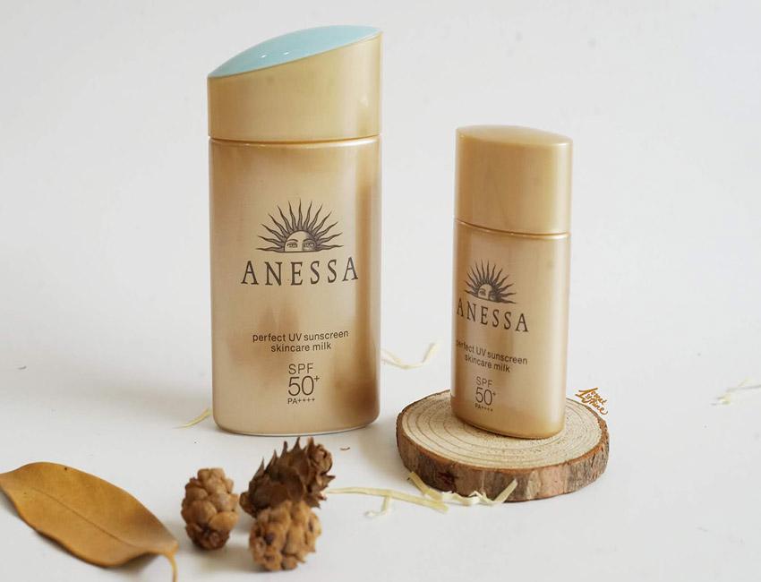 Kem chống nắng Anessa Perfect UV sunscreen skincare milk SPF 50+ - những sản phẩm kem chống nắng hiện nay
