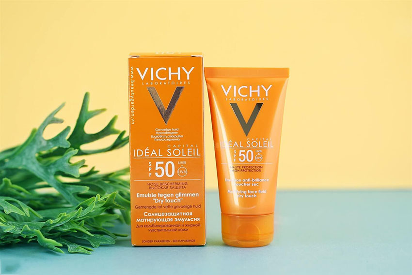 Chống nắng Vichy Ideal Soleil SPF 50 Mattifying Face Fluid Dry Touch